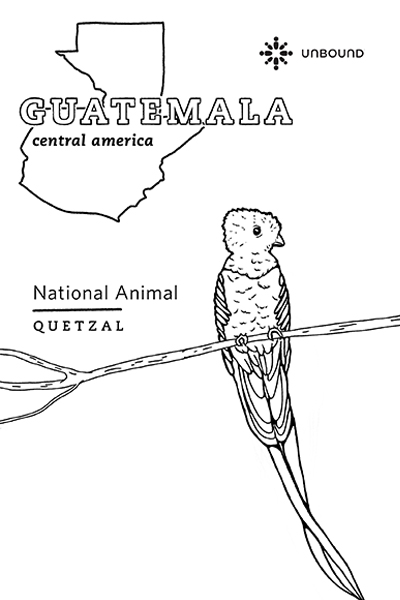 Coloring Page - Quetzal in Guatemala