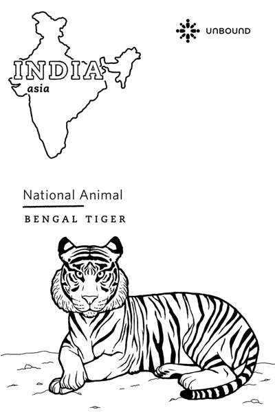 Coloring Page - Tiger in India