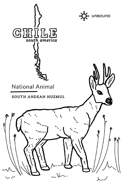 Coloring Page - Huemul in Chile