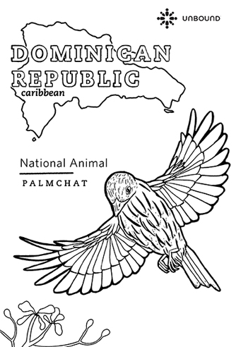 Coloring Page - Palmchat in Dominican Republic