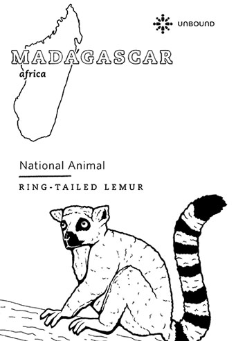 Coloring Page - Lemur in Madagascar