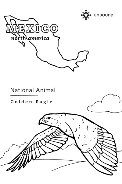 Coloring Page - Golden Eagle in Mexico