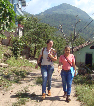 Scholar Gabriela leads a youth group in her community in Honduras.