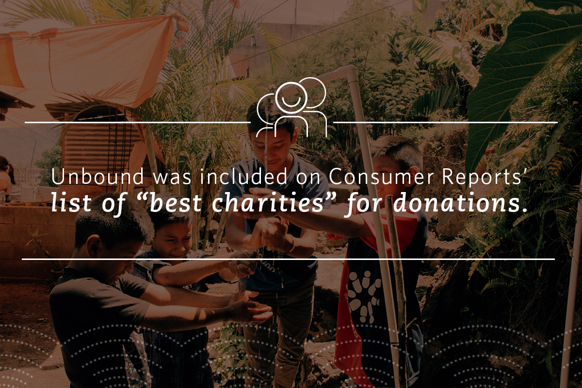 "Unbound was included on Consumer Reports' list of ""best charities"" for donations."